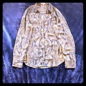 Express - Snake Skin Print Shirt- Size M
